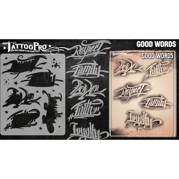 Tattoo Pro Stencils Series 3 - Good Words