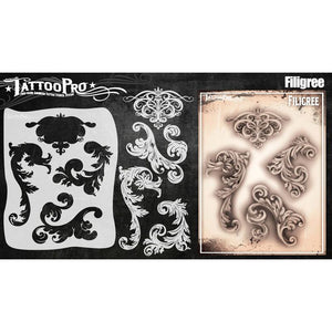 Tattoo Pro Stencils Series 5 - Filigree & Flair