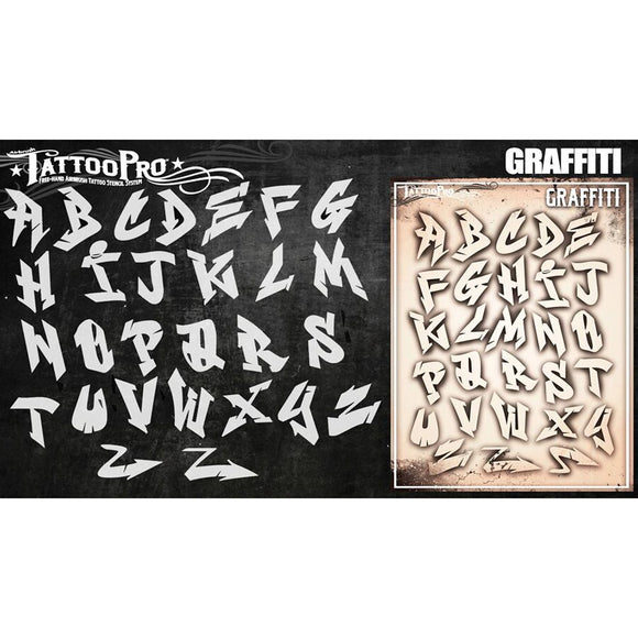 Tattoo Pro Stencils - Graffiti Letters Set