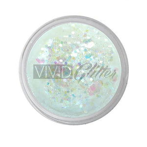 VIVID Glitter Loose Chunky Glitter Mix - Purity (10 gm)