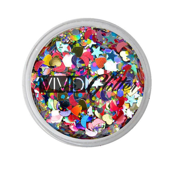 VIVID Glitter Loose Chunky Glitter Mix - Festivity (10 gm)