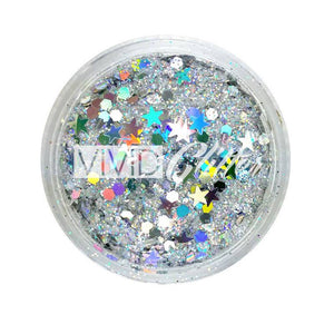 VIVID Glitter Loose Chunky Glitter Mix - Heaven (10 gm)