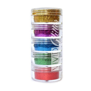 VIVID Glitter Loose Glitter  5 Piece Stack - Perfect Rainbow