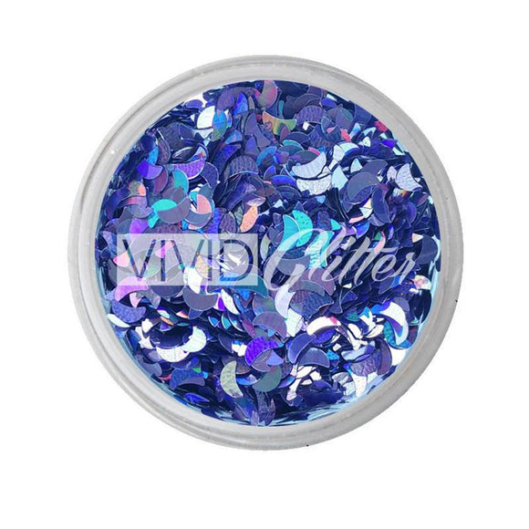 VIVID Glitter Loose Chunky Glitter - Grape Crescent (10 gm)