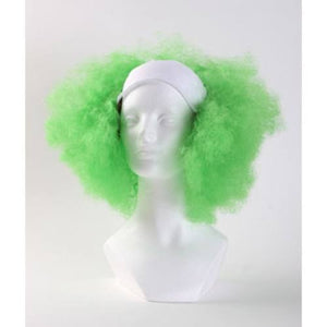 Bald Curly Clown Wig - Green