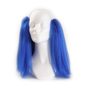 Alicia Bald Straight Clown Wig - Blue