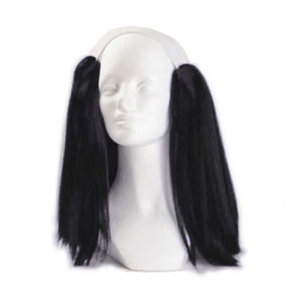 Alicia Bald Straight Clown Wig - Black