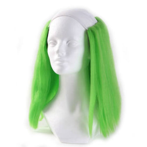 Alicia Bald Straight Clown Wig - Green