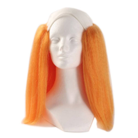 Alicia Bald Straight Clown Wig - Orange