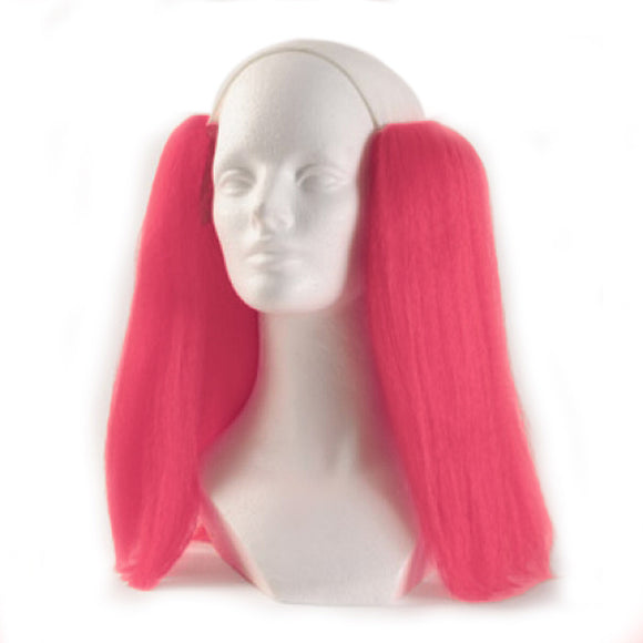 Alicia Bald Straight Clown Wig - Pink
