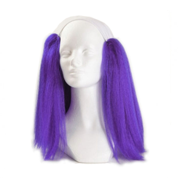 Alicia Bald Straight Clown Wig - Purple