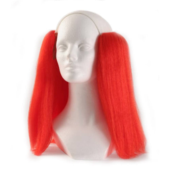 Alicia Bald Straight Clown Wig - Red