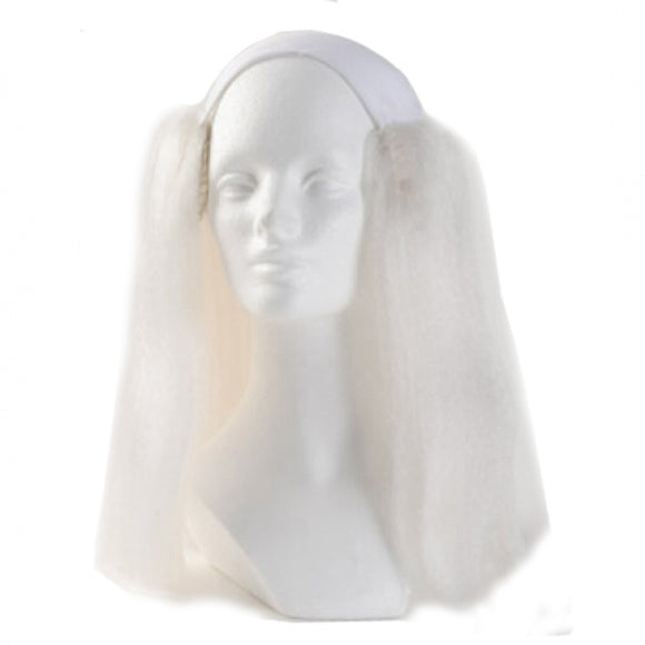 Alicia Bald Straight Clown Wig - White