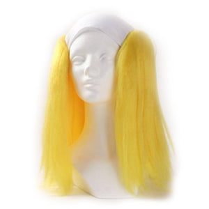 Alicia Bald Straight Clown Wig - Yellow