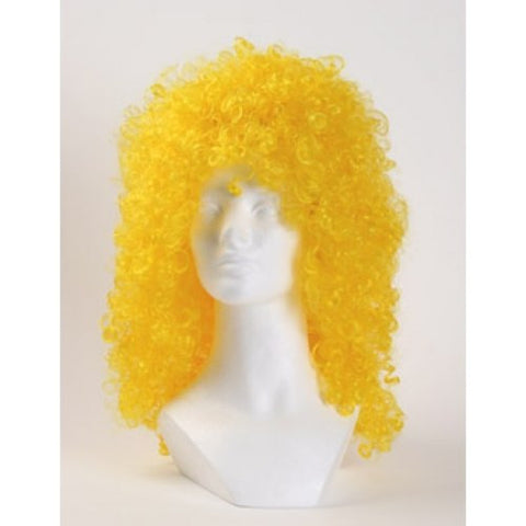 Disco Curly Clown Wig - Yellow