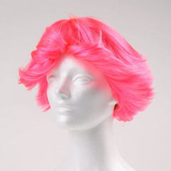 Fun Flip Clown Wig  - Hot Pink