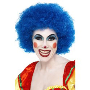 Crazy Curly Clown Wig - Blue