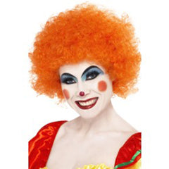 Crazy Curly Clown Wig - Orange