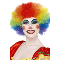 Crazy Curly Clown Wig - Rainbow