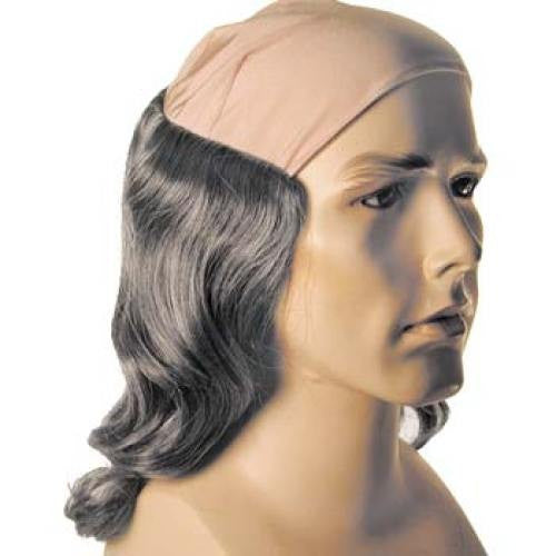 Tramp Bald Wig w/ Long Gray Hair