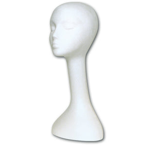 "Styrofoam Head - Long Wig (20"" High)"