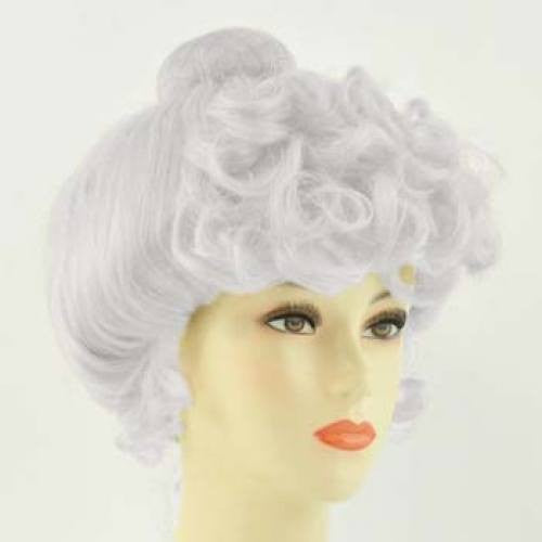 Deluxe Gibson Girl Wig - White/Light Gray