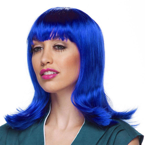 Characters By West Bay Peggy Sue Wig - Dark Blue
