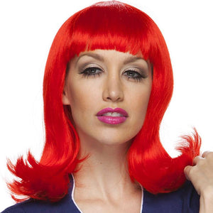 Characters By West Bay Peggy Sue Wig - Red