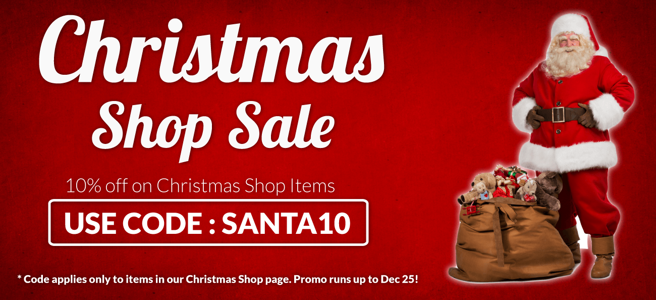 10% off on items in our Christmas Shop!
