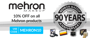 10% off on all Mehron Products!