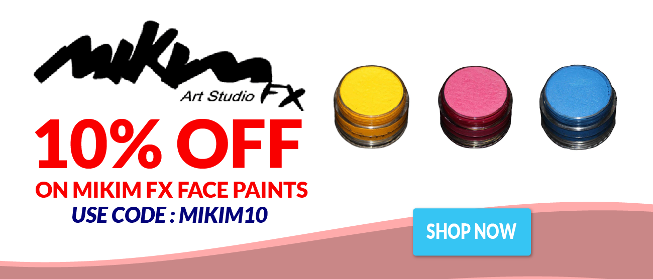 10% off on all Mikim Face Paints!