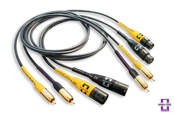 Analysis Plus Copper Oval-In MICRO Interconnect Cables - Alma Music and Audio - San Diego, California