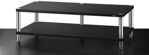 SolidSteel HW-2L Two-shelf Wide Audio Rack - Alma Music and Audio - San Diego, California