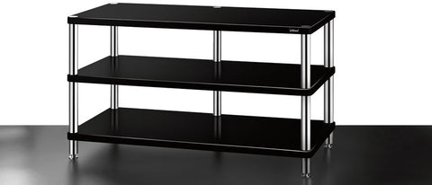 SolidSteel HW-3 Three-shelf Wide Audio Rack - Alma Music and Audio - San Diego, California