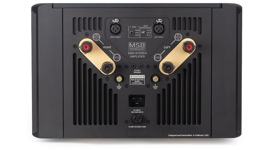 MSB S500 Stereo Power Amplifier - Alma Music and Audio - San Diego, California