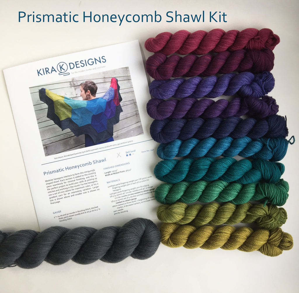 Prismatic Honeycomb Shawl Kit