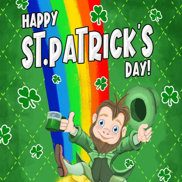 St Patrick's Day Themed Flags