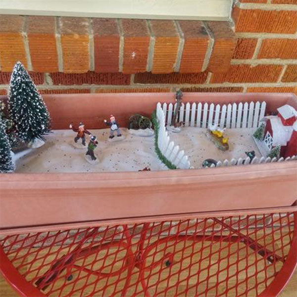 The Christmas Farm Fairy Garden