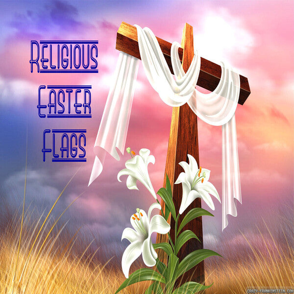 Religious Easter Flags