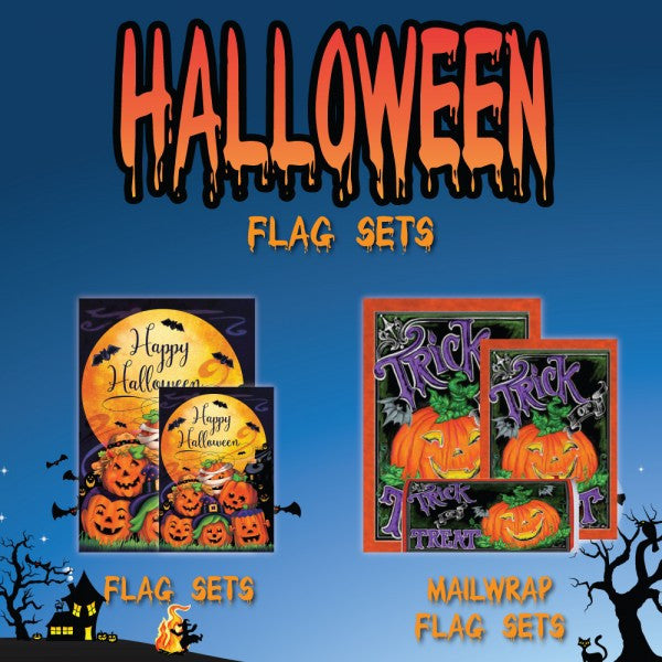 Halloween Flag Sets are now available! 10% OFF!