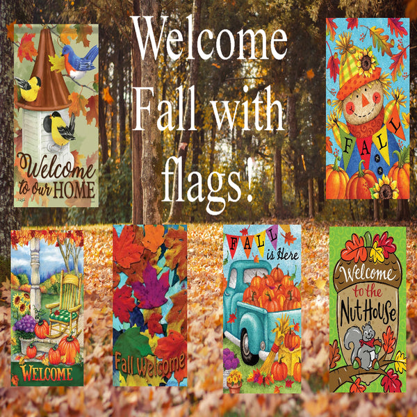 Welcome Fall With Flags!