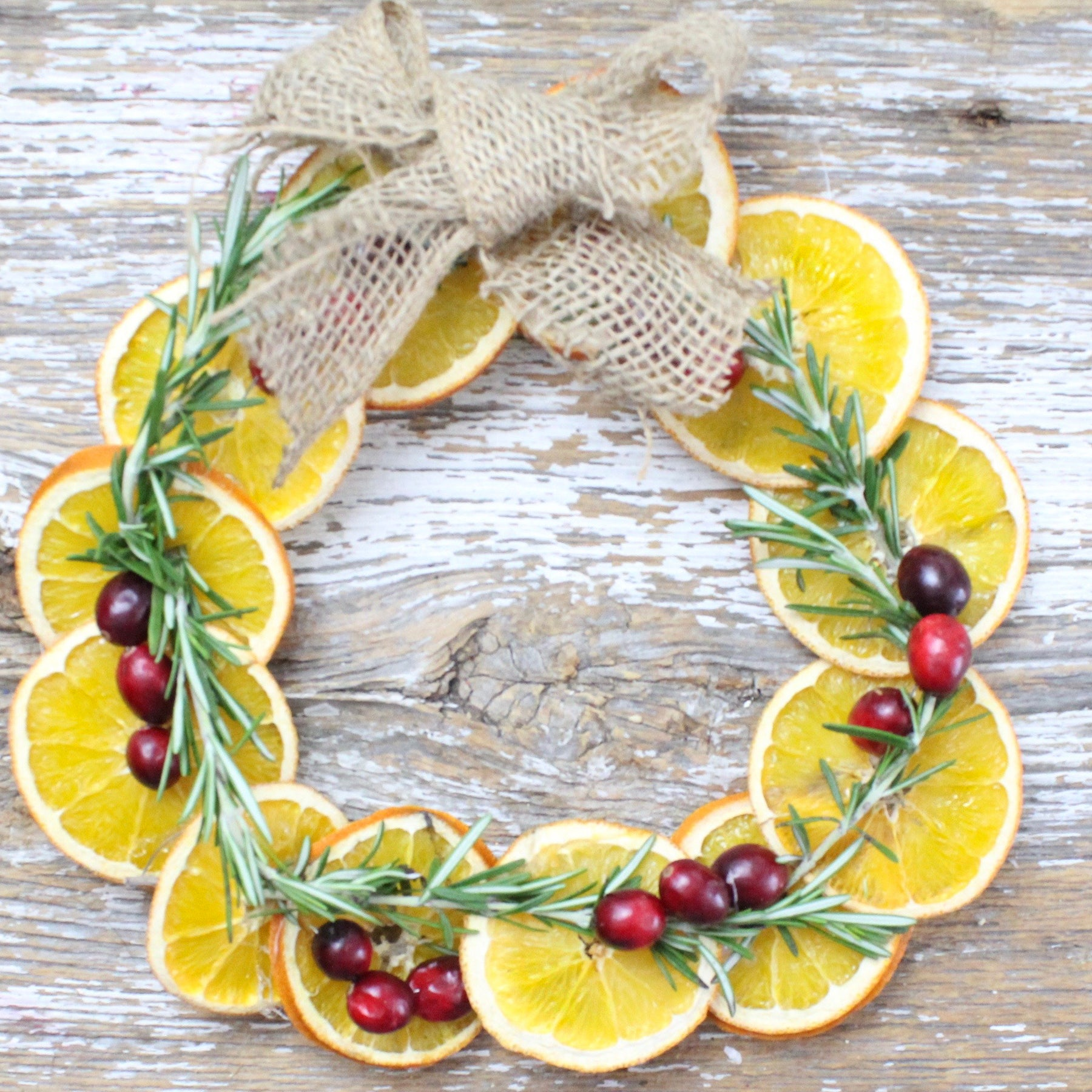 Dried Orange Wreath Tutorial