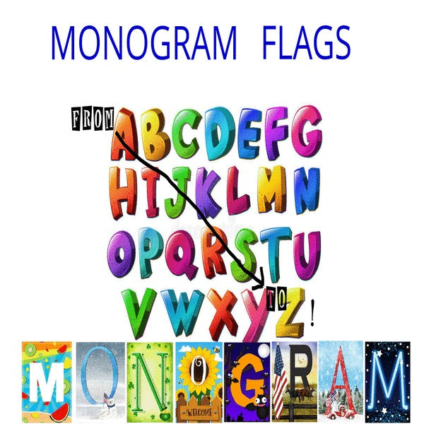 Monogrammed Flags From A to Z!
