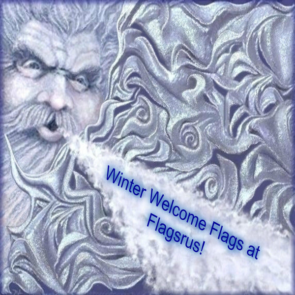 Winter Welcome Flags