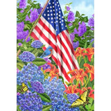 Butterfly Bush House Flags