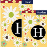 Letter H Monogram Flag Sets