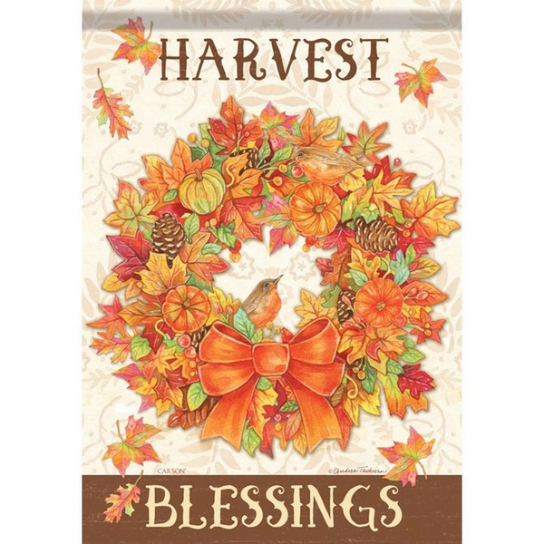 Harvest Blessings Fall Flag