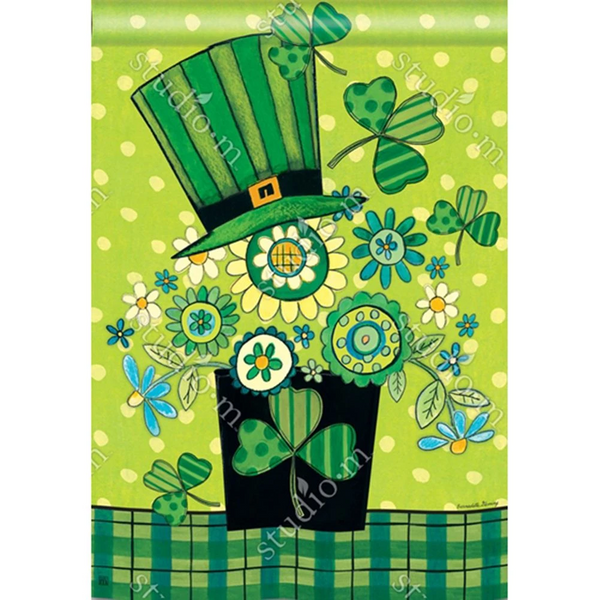 Blooming Irish Double Sided House Flag