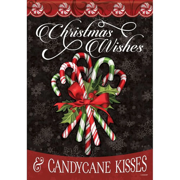 Christmas Wishes and Candycase Kisses Flag