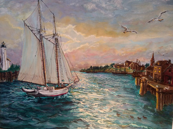 Harbor Scene - Don Knoerr